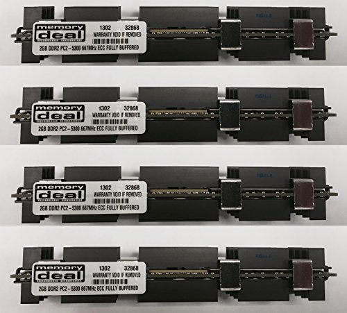 - 8GB (4 X 2 GB) RAM Memory for Apple MAC PRO 2006 1st Gen 1,1 (DDR2 8 GB 667MHz ECC FB DIMM)