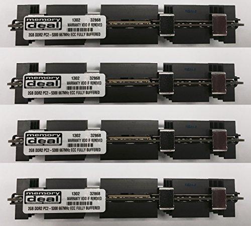 8GB (4 X 2 GB) RAM Memory for Apple MAC PRO 2006 1st Gen 1,1 (DDR2 8 GB 667MHz ECC FB DIMM)