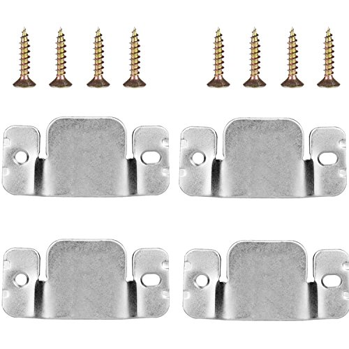 Mudder Universal Sectional Sofa Interlocking Sofa Connector Bracket with Screws, 4 Pieces (Connector Bracket)
