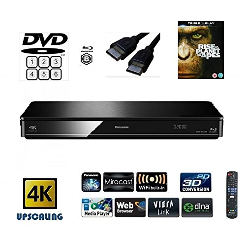 Panasonic DMP-BDT380 (MULTIREGION FOR DVD) Smart , 4K Upscaling, Blu-Ray...