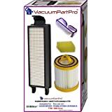 Vacuum Part Pro® Eureka Litespeed Whirlwind Bagless Upright; 5700 & 5800 Series Filter Kit. Kit Includes HEPA Dust Cup Filter, HEPA Exhaust Filter and Foam Pre-Motor Filter.