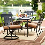 Cheap Oak Heights 7-Piece Patio Dining Set with Cashew Cushions