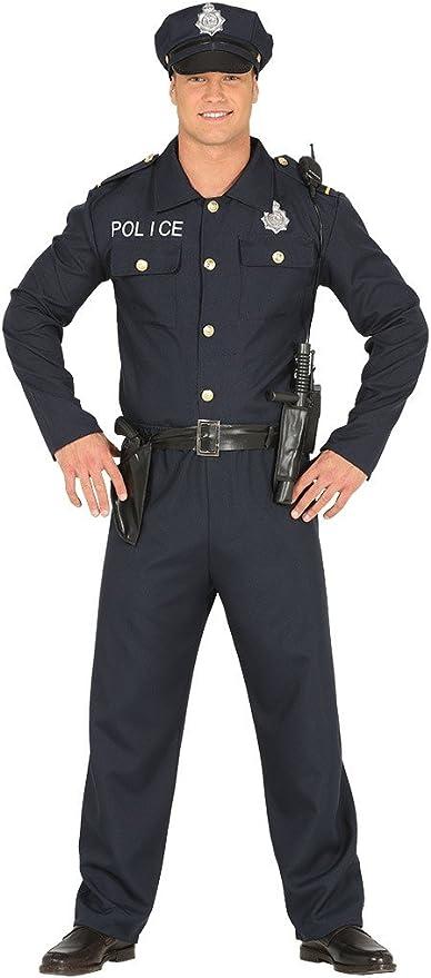 FIESTAS GUIRCA Traje Adulto de policía Oficial de policía Estadounidense: Amazon.es: Juguetes y juegos