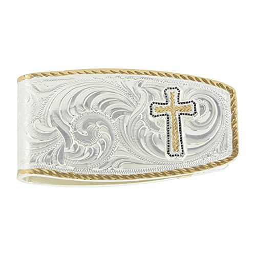 Religious Money Clips (Montana Silversmiths Two Tone Classic Money Clip with Cross Figure (MCL30YG-929XS))