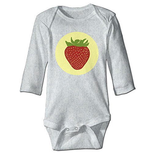 Itongquy Cute Strawberry Fashion Newborn Baby Suit Climb(Long Sleeve) 6 M (Die Laughing Mask)