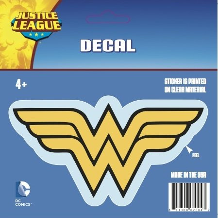 DC+Comics Products : DC Comics ST WW LOGO001 Car Window Decal (Justice League Logos Wonder Woman Logo Standard Multicolor)