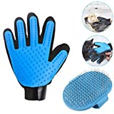 YESSBON Pet Grooming Glove & Message Bath Brush Dogs and Cats Hair Remover Mitt Efficient Shedding Tool Easily Removes Loose Hair Fits Long and Short Haird Pets (Right Hand)
