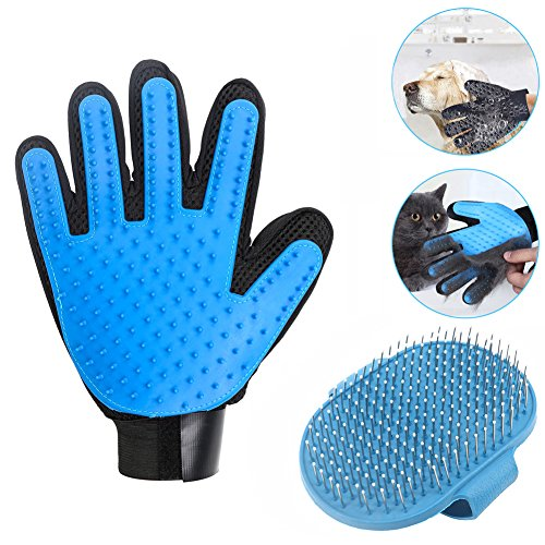 YESSBON Pet Grooming Glove & Message Bath Brush Dogs and Cat