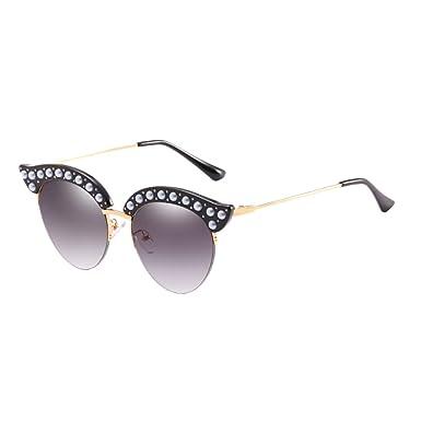 Zhhlinyuan Vintage Style Unisex Metal Frame lunettes de soleil Sunglasses Ocean Slice Eyewear Perfect Gifts Qualité for Women Men Étui à lunettes czhJi