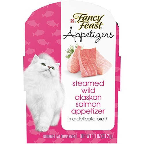 Purina Fancy Feast Appetizers Steamed Wild Alaskan Salmon Adult Wet Cat Food Complement - (10) 1.1 Oz. Trays