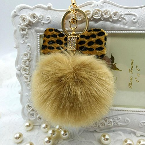 Ecosin Leopard Bowknot Keychain Handbag
