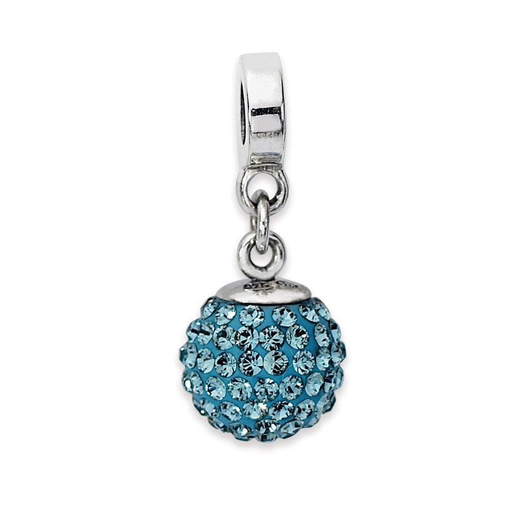 925 Sterling Silver Reflections Dec Swarovski Crystal Ball Dangle Bead