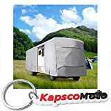North East Harbor Waterproof Superior RV Motorhome Fifth Wheel Cover Class A B C Fits Length 35'-40' Travel Trailer Camper Zippered Panels Access Door Both Side Storage Areas + KapscoMoto Keychain