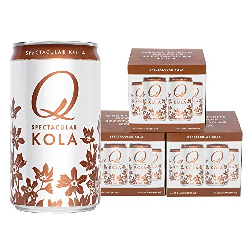- Q Drinks, Q Kola, Spectacular Kola, Premium Mixer, 7.5 Ounce Slim Can (Pack of 12)