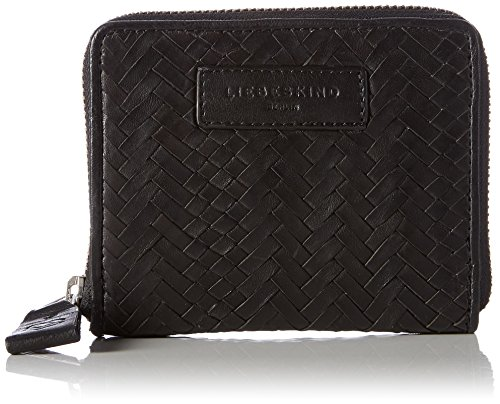 Liebeskind Berlin Women's Connyw7 Handwoven Leather Zip Around Wallet Wallet, Oil Black/MultPo, One Size by Liebeskind Berlin