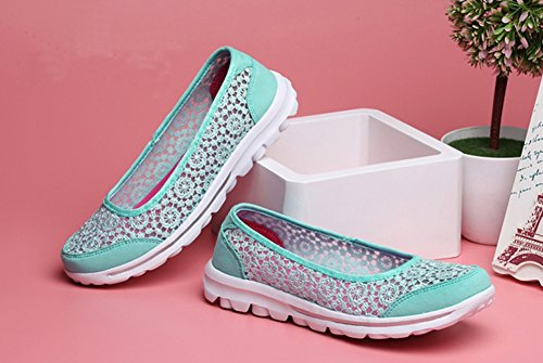 Walking Hollow Summer On Slip Spring Shoes Blue Casual Women's Flats Matari Style w7qzazF