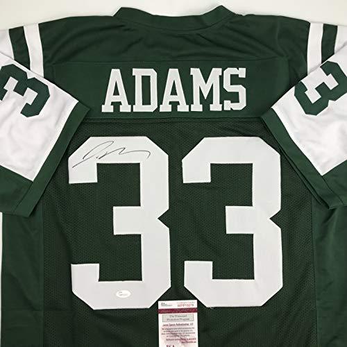 Autographed/Signed Jamal Adams New York Green Football Jersey JSA COA