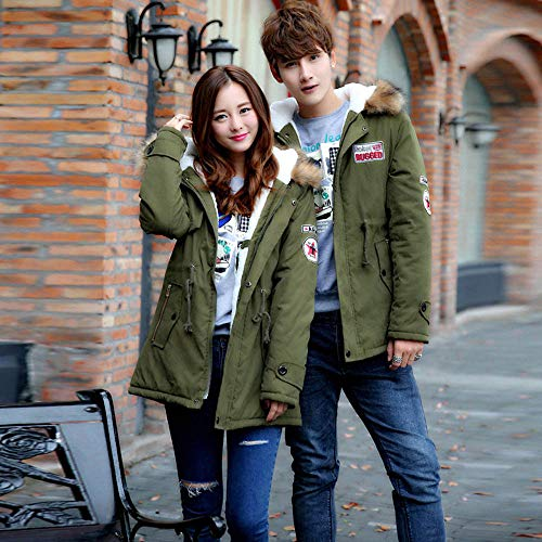 Amazon.com: Mens Womens Coat Plus Size Collar Couple Cotton Pocket Long Hooded Jacket Outwear: Appliances