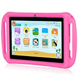 Xgody T702 7 Inch Android Kids Tablet PC for Kids Quad Core Android 8.1 1GB RAM 16GB ROM Touch Screen with WiFi Pre-Loaded 3D Game Dual Camera Pink