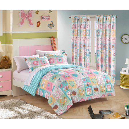 Stunning, Uniquely Feminine, Lovely Mainstays Kids Woodland Friends Bed in a Bag Bedding Set, TWIN