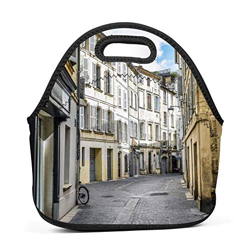 Lunch Tote, ZFOOD Lunch boxes Lunch bags with Fine Neoprene Material Waterproof Picnic Lunch Bag Mom Bag avignon-QW4164693 (Best Food In Avignon)