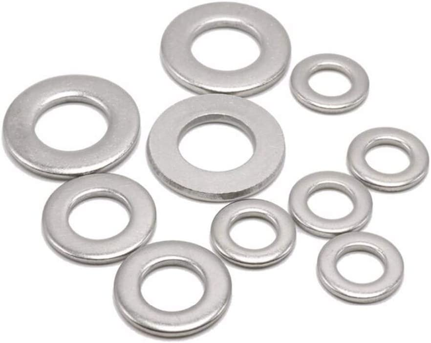 Size : M6 Zyj stores Flat Washers 100pcs M1.6 M2 M2.5 M3 M4 M5 M6 Stainless Steel Flat Washer Plain Wash Insulation Gasket Metal Gasket Screw Gasket Stainless Flat Washer