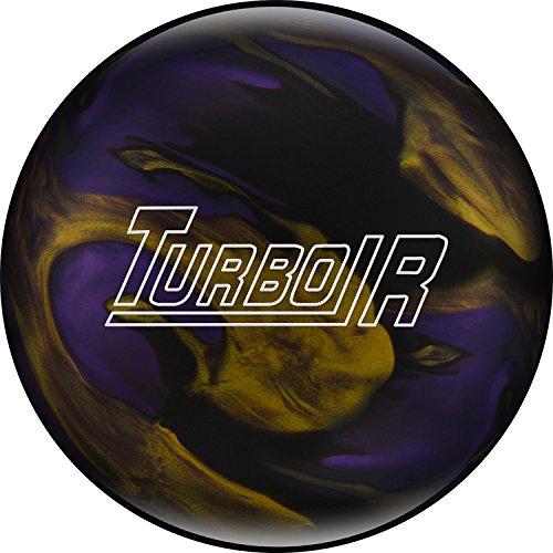 Ebonite Turbo//R Bowling Ball 11 lb Black//Purple//Gold