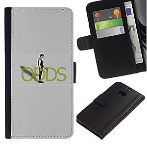 KLONGSHOP // Tirón de la caja Cartera de cuero con ranuras para tarjetas - Han Sol0 Probabilidades - HTC One M8 //