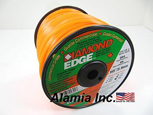 Trimmer Line Diamond Edge Commercial .155 3-Lbs. Medium Spool 285 Feet. MADE IN USA - Edge Trimmer Line