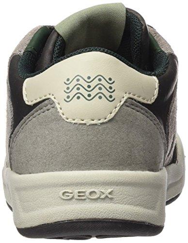 Geox J Rolk Boy B, Zapatillas Para Niños Grau (Dk Grey/GREYC0671)
