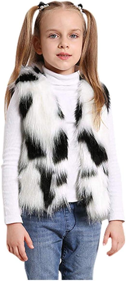Unisex Baby Girls Boys Jacket Faux Fur Sleeveless Vest Coat Winter Warm Waistcoat Outerwear