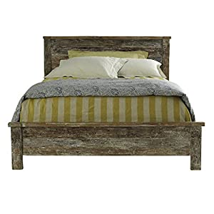 reclaimed wood bed frame cal king - Distressed Wood Bed Frame