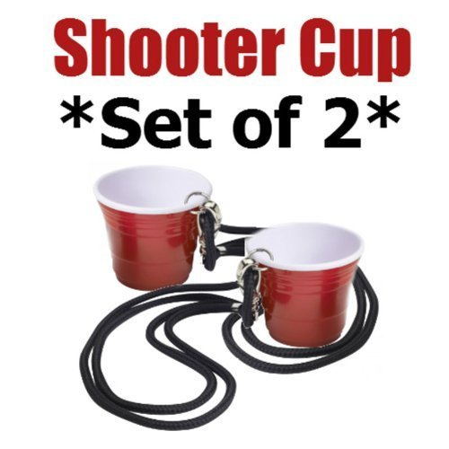 The Icon Red Cup Shooter (2oz.) with Lanyard (Set of 2)]()