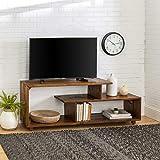 WE Furniture AZ60RSWAM TV Stand, 60', Amber