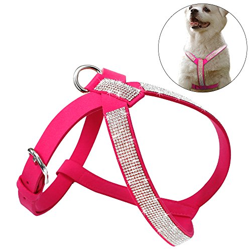 Didog Soft Sparkly Rhinestone Dog Harness for Small and Medium Dogs,Y-Front Harness for Puppy Poodle Yorkie