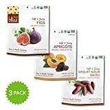 Fruit Bliss Organic Variety Pack, (1) 5 oz. Figs, (1) 5 oz. Apricots, (1) 5 oz. Deglet Nour Dates (3 Pack)