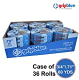 "GripBlue™ 3/4'' (.71""/18mm) X 60 YDs Multi-Use Blue Painters Tape 