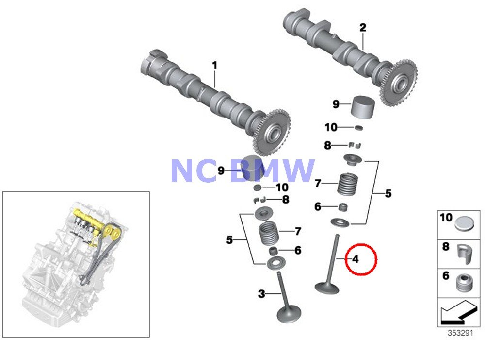 2 X BMW Genuine Motorcycle Valve Timing Gear Exhaust Valve C600 Sport C650GT by BMW