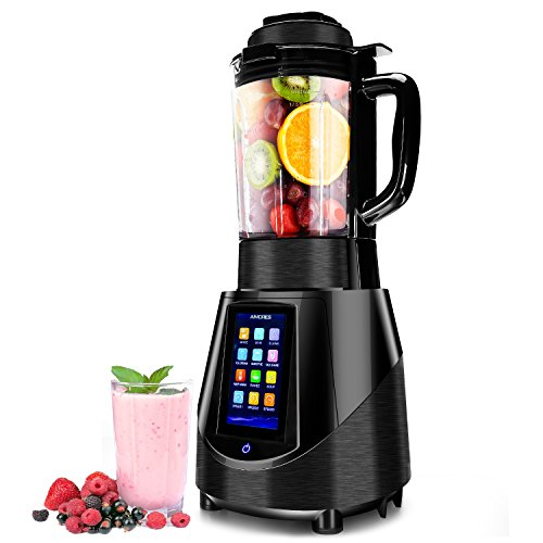 Aimores Commercial Blender - Heating Soup Maker - 6 Pre-Programmed - Boron Glass Pitcher - Auto Clean - LED Touch Screen Control - FDA/ETL (Razor Blades In Apples For Halloween)
