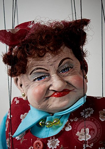 Cleaning Lady - Handmade Puppet by Czech Marionettes