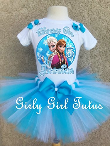 Frozen Birthday Elsa and Anna Oufit Tutu Set by Girli Girl Tutus