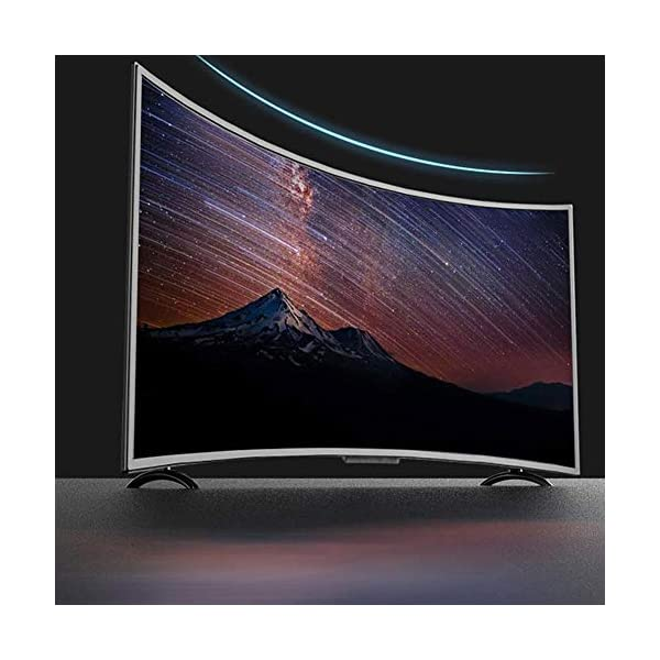 Hakeeta Curved 55-Inch UHD 4K Ultra HD Television Curved Screen Smart TV, Supports USB HDMI RF Antenna.(Network Version)(US) 4