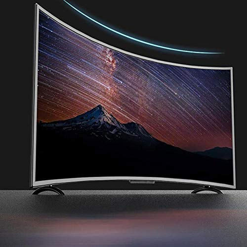 Smart Curved HDR HD LCD TV with Wall Mount Bundle, Intelligent Voice Controlled TV 43'' Widescreen Monitor Display, 1920x1200P High Definition, Support WiFi, VGA, USB, HDMI, RF Interface(US)