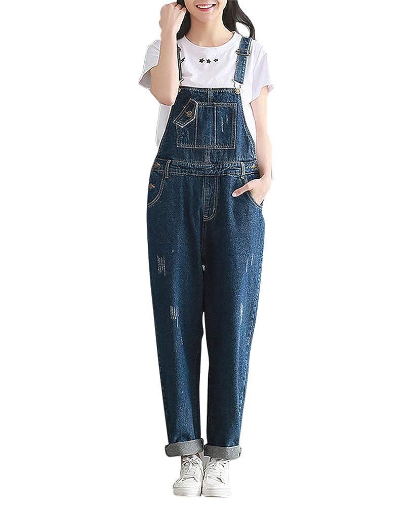 Pantalon Mujer Monos Largos Petos Vaqueros Jeans El/ásticos Pantalones Jean