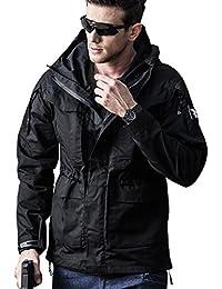 SEMARO Men Tactical Army Waterproof Breathable Hooded Coat Outdoor Windbreaker Sport Jacket