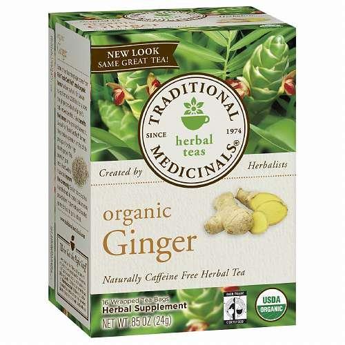 Traditional Medicinals Caffeine Free Organic Herbal Tea, Ginger 16 ea