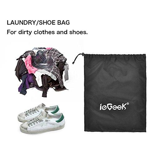 ieGeek Packtasche Set Wasserdicht Beutel 6 Set Verpackungswürfel, langlebig Bag Aufbewahrungstaschen Kompressionstaschen Verpackungsset mit Wäsche Tragekoffer Gepäck Rücksack Aufbewahrungsset