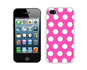 Romantic Polka Dot Mei Red and White Iphone 4 Case 4s White Cover Personalized Cell Phone Accessories