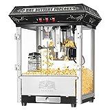 8 Ounce Countertop Popcorn Popper Machine in Black