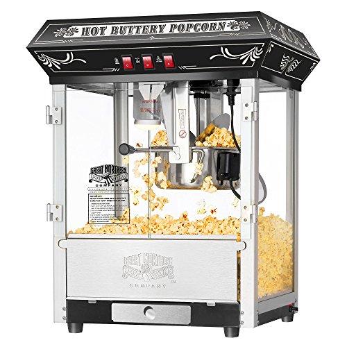 8 Ounce Countertop Popcorn Popper Machine in Black - Antique Beige Machine